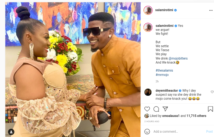 """""""We Argue And Fight But We Settle""""- Yoruba Actor, Salami Rotimi Says As He Appreciate His Wife (photo)"""