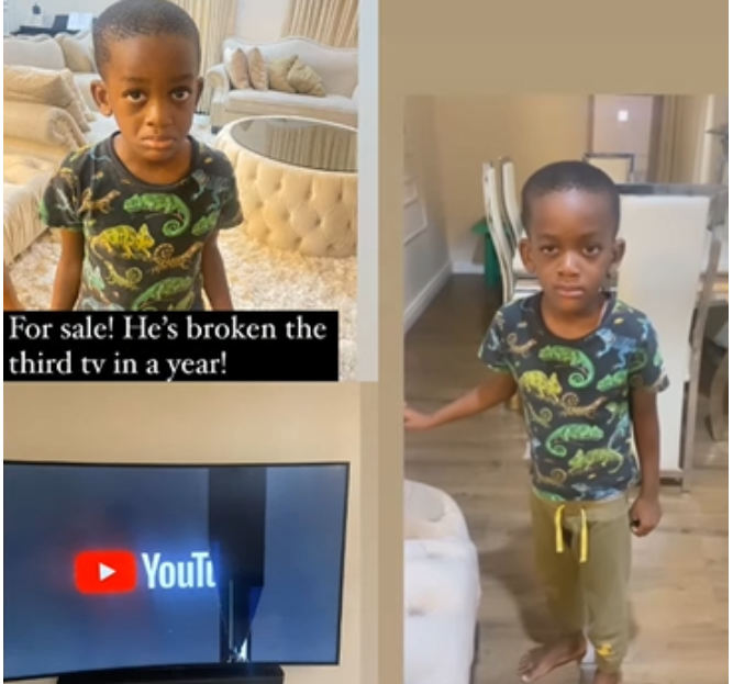 Hilarious! Comedian Bovi puts his last son up for 'sale' after he broke their TV set for the third time this year (video)