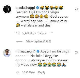 """""""You lied to me just to sleep with me and you're claiming to be a virgin"""" – Lady outs comedian, Broda Shaggi; he reacts"""